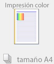 Color tamaño A4